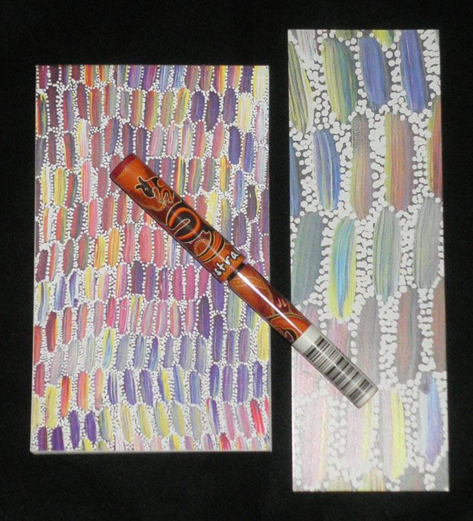 Aboriginal design Notebook/Bookmark/Pen $6.00  SPECIAL - 3 for $17.00