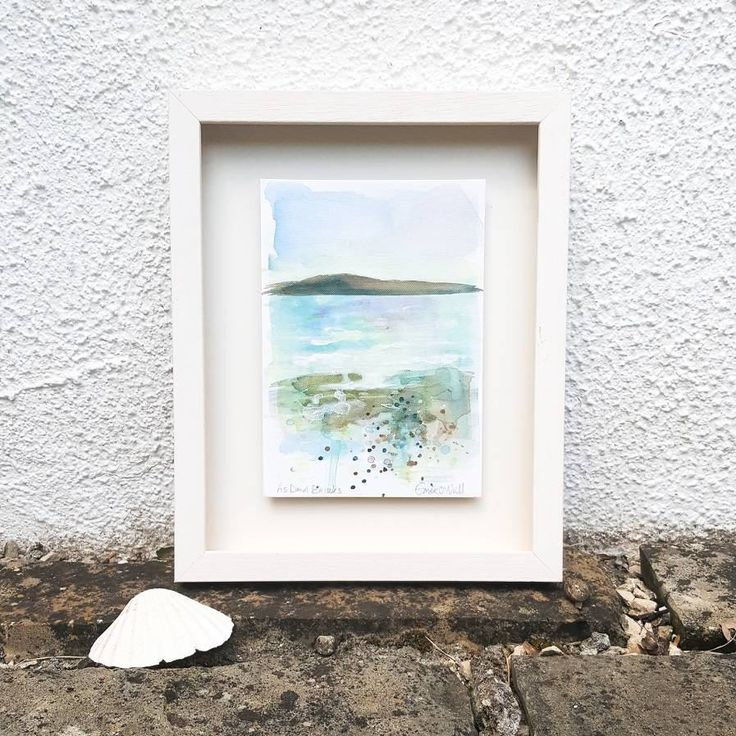 'As Dawn Breaks' is an acrylic seascape painted on an A5 Canvas Board, which has been mounted in a custom made shadow box frame. Outside dimensions 10x12.  €98   P&P  I use my art to connect my wonderful customers to the power of the ocean.  Be it a sense of freedom in the wild wind and t