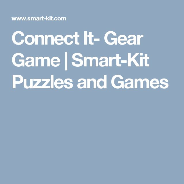 Connect It- Gear Game | Smart-Kit Puzzles and Games
