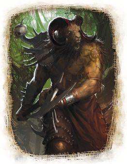 A Fearsome Beastman, par (auteur inconnu), in Warhammer Fantasy Roleplay 3e édition, par Fantasy Flight Games