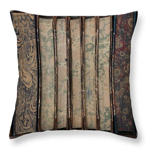 Books Throw Pillow featuring the photograph Old Books by Sverre Andreas Fekjan