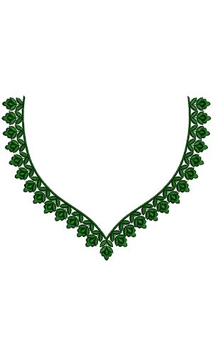 Dubai Clothing Neck Design 16904