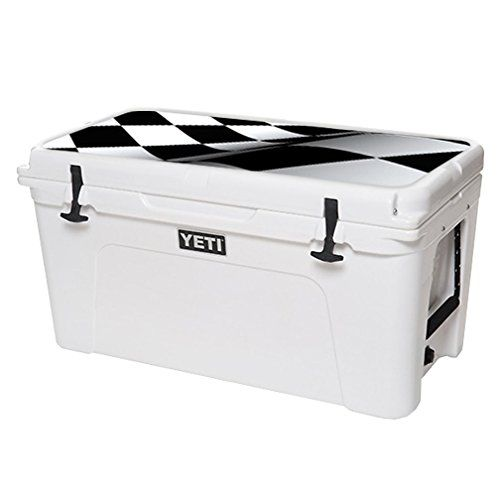 MightySkins Protective Vinyl Skin Decal for YETI Tundra 75 qt Cooler Lid wrap cover sticker skins Checkered Flag >>> Continue to the product at the image link.(This is an Amazon affiliate link and I receive a commission for the sales)