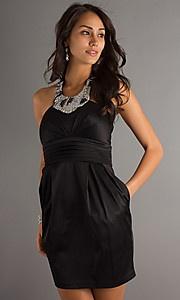 #black #bridesmaid #dress