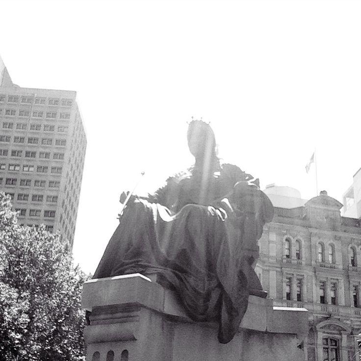 Queen Victoria Statue, Sydney City, Australia :)
