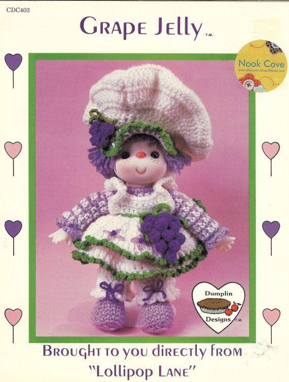 Grape Jelly Dumplin Designs Crochet Doll Pattern by by NookCove $4.74 + 2.25sh