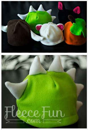 darling fleece hat patterns-especially would be cute for halloween