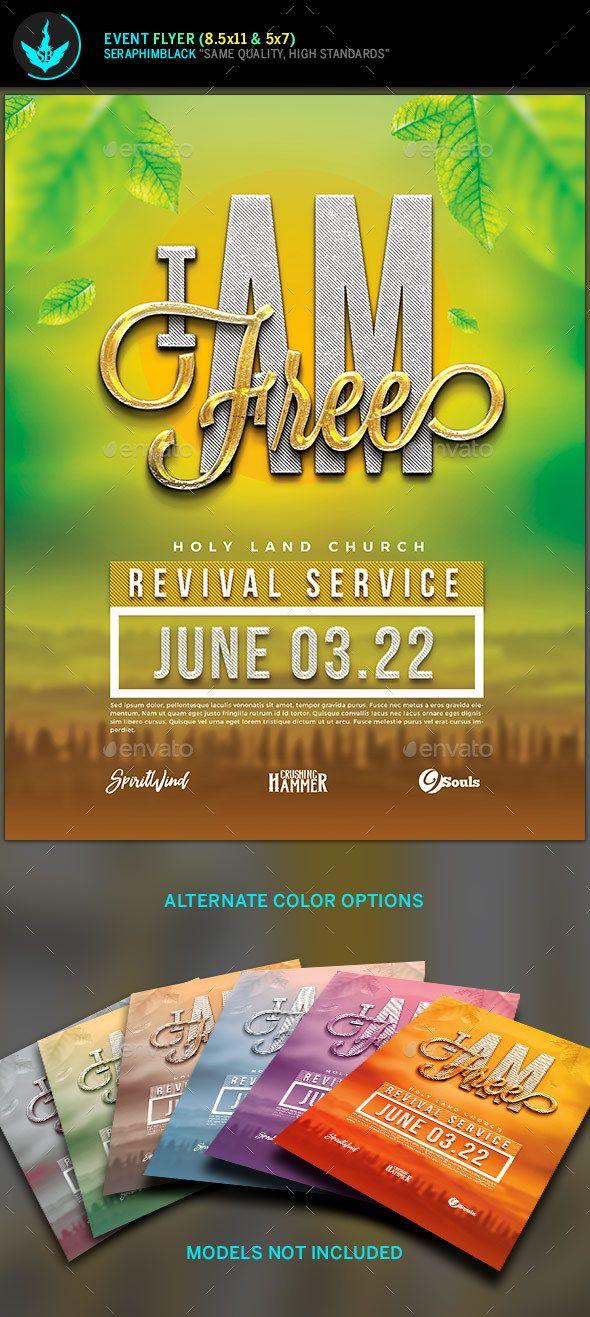 I Am Free Church Flyer Template Church Flyers Flyer Templates