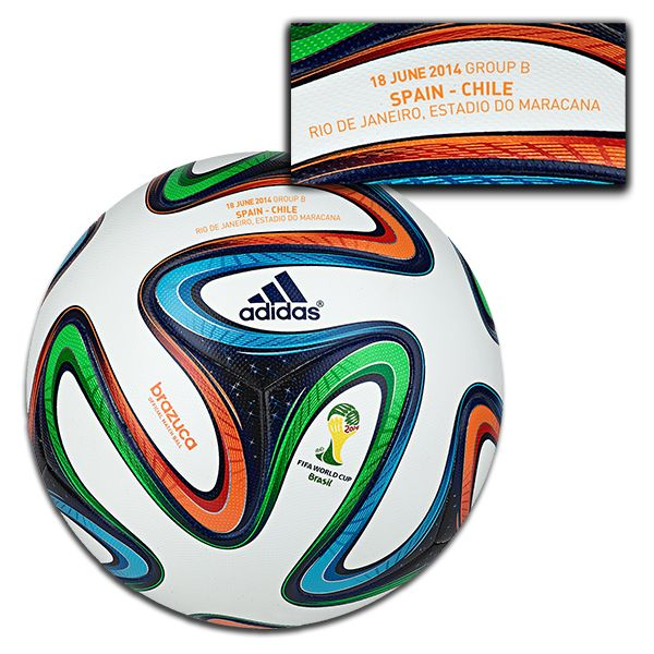adidas 2014 Brazuca Official Match Ball - Spain vs Chile- June 18
