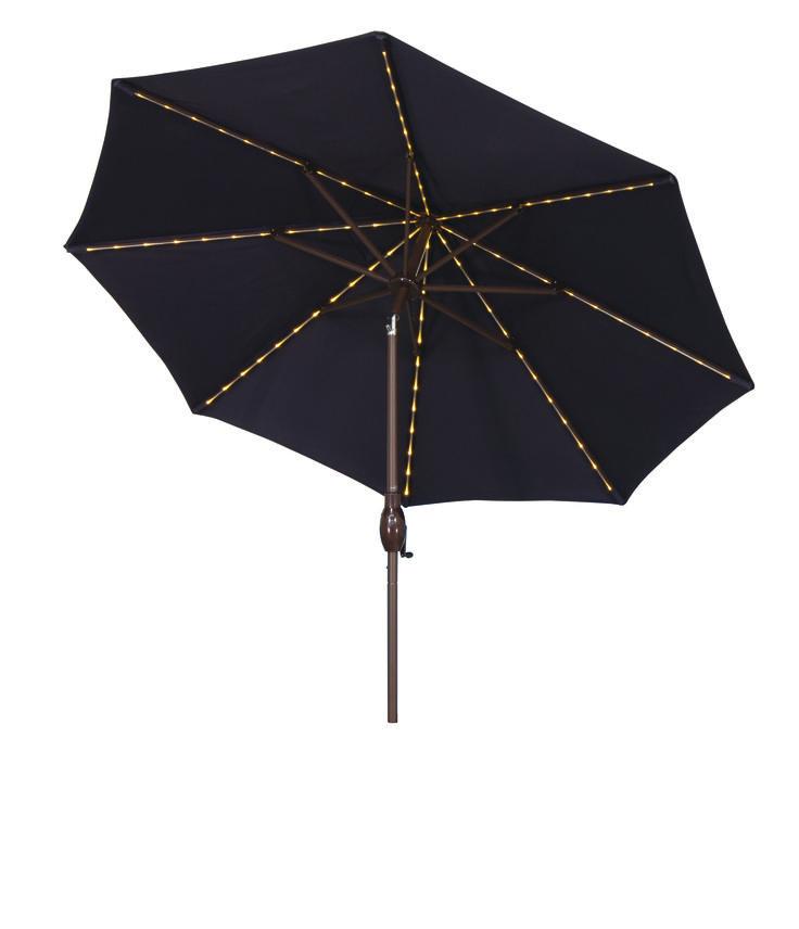 Lighted Patio Umbrellas Sale Galtech 11 Ft Aluminum Patio