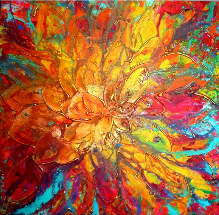 20 best bright colors abstract paintings images on for Artist canvas paint color