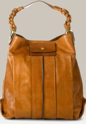 Chloe Heloise Leather Bucket Bag