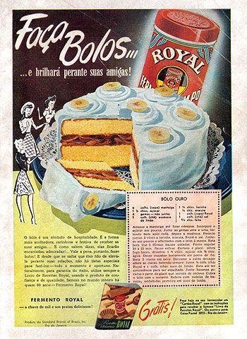 Propaganda do Pó Royal nos anos 40 - extraído da Revista O Cruzeiro.