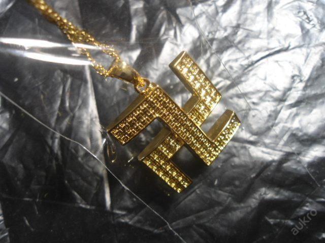 Řetízek se svastikou / barva zlatá /svastika SLEVA (5926316878) - Aukro - největší obchodní portál