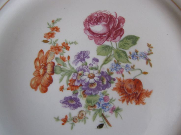 Antique Russia USSR Dulevo plate flowers painting Russian Decor collectible #Dulevo