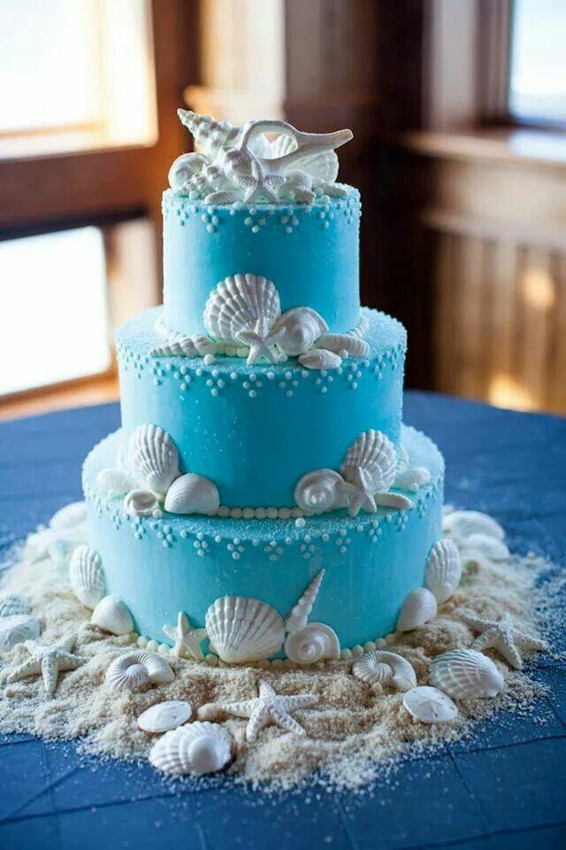 Beach theme baby shower cake | baby shower | Pinterest ...