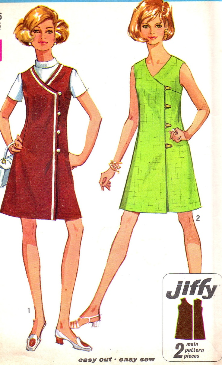 Vintage Sewing Pattern 1960s Simplicity 8232 Mod from Etsy