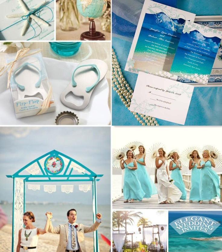 Beach Wedding Ideas Blue And White Color Summer Theme