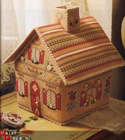 Cartonnage house - inspiration for sewing machine cover: