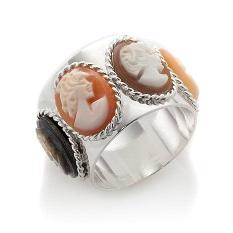 M+M Scognamiglio® Handcarved 4-Cameo Band Ring