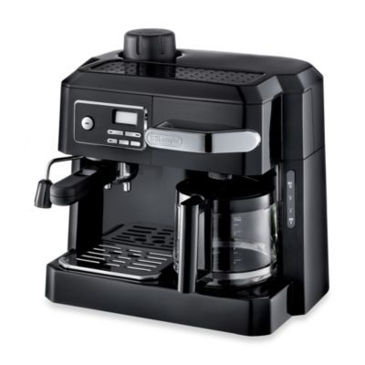 De'Longhi BCO320T Combination Steam Espresso Drip Coffee Cappuccino and Latte Machine in Black - BedBathandBeyond.com