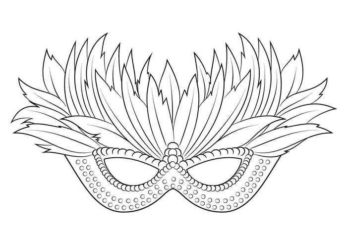 Venetian Mardi Grass Mask Coloring Pages Venetian Mardi Grass