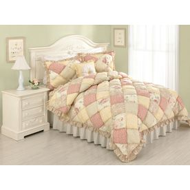 Modern Heirloom�Molly Puff 3-Piece Multicolor Full/Queen Quilt Set