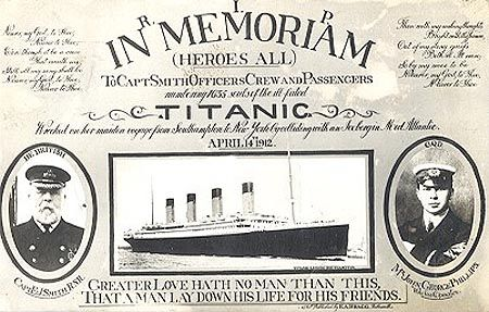100 years  of the sinking of the Titanic
