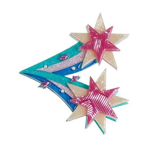 """Erstwilder Limited Edition Star Burst Brooch. """"Try not to get all hung-up running from one falling star to another till you drop. This is the night what it does to you."""""""