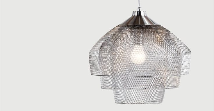 Gable, lustre, chrome poli et brossé | made.com