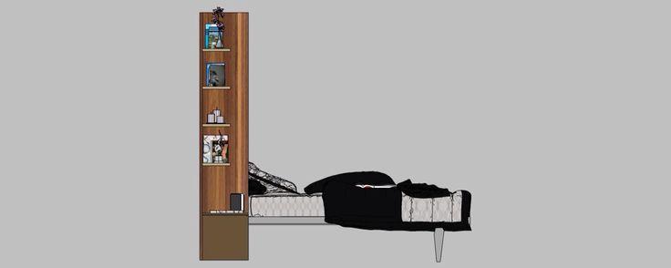 Amenajare garsoniera mobilier camera deschis vedere dreapta