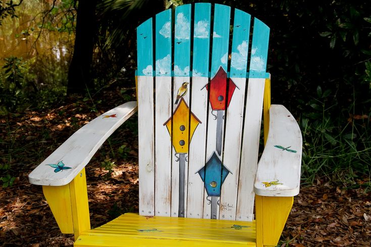 "Chair Price $250      ""The Bird House Trio""  Table Price $125   I can also custom paint any design you would like o..."