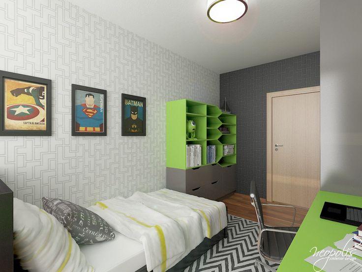 Chlapčenská izba v zelenom prevedení
