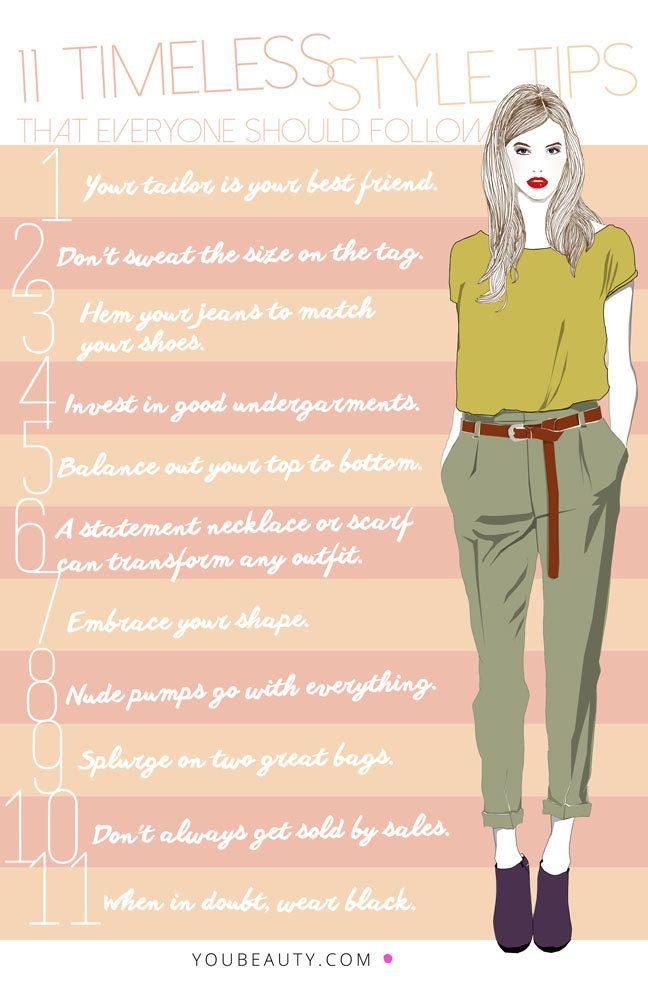 11 Timeless Style Tips Everyone Should Follow. Well, 10. Can't agree with 11, don't own much black stuff. :-):