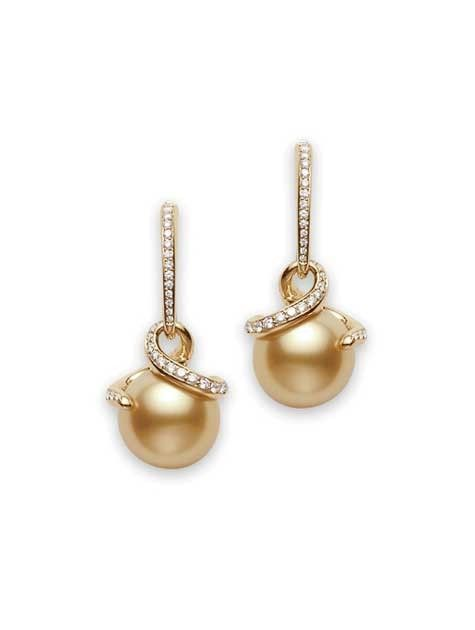 The most Beautiful Mikimotos I've ever seen!Twist , Golden South Sea Pearl Earrings - Mikimoto