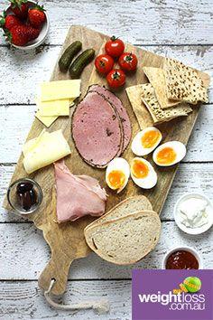 Healthy Ploughman's Lunch . #HealthyRecipes #DietRecipes #WeightLossRecipes weightloss.com.au