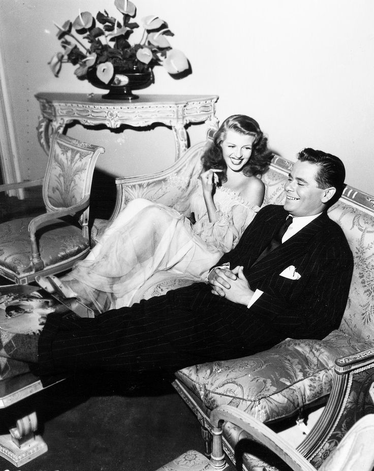 """Glenn Ford y Rita Hayworth durante el rodaje de """"Gilda"""", 1946"""