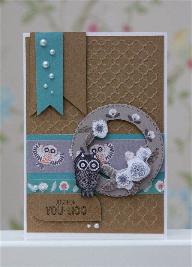 Card Making Ideas Owls Part - 23: Yoo Hoo Owl Card By StickerKitten