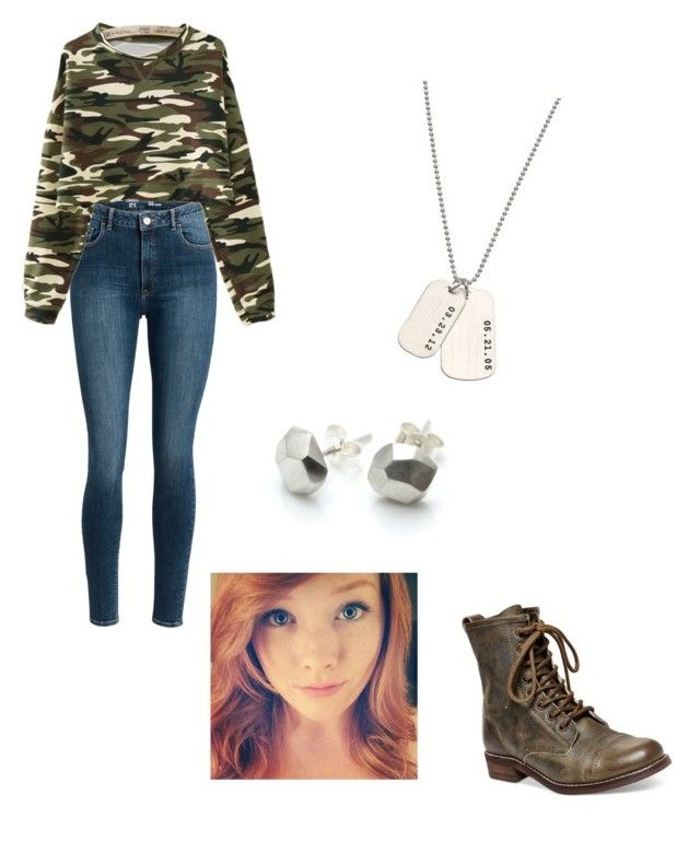 """""""Army outfit"""" by summercurtis14 ❤ liked on Polyvore featuring Steve Madden and AnnaBee"""