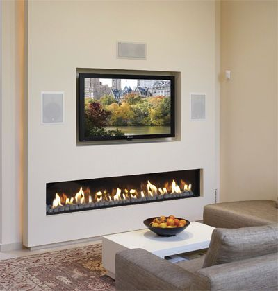 Gas fireplace / built-in / open hearth / contemporary CLEAR 200 Ortal USA