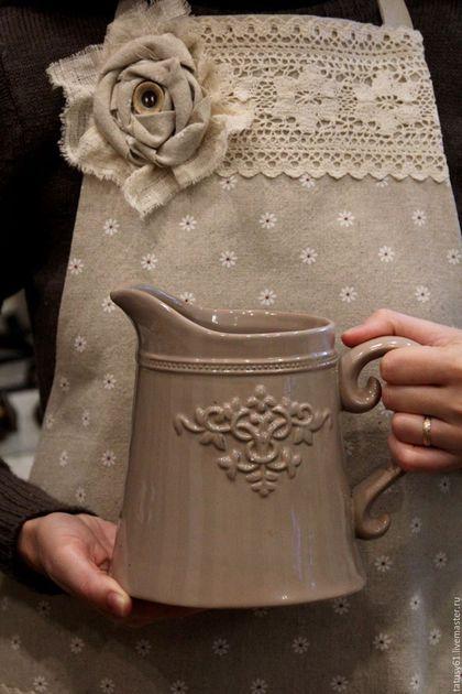 Кухня ручной работы. Ярмарка Мастеров - ручная работа. Купить Фартук-передник льняной  для кухни Мечта хозяйки ( прованс, бохо). Handmade.
