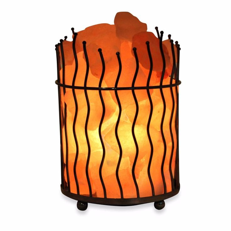 Himalayan Glow® Ionic Salt Crystal Wavy Basket Lamp | Home & Garden, Lamps, Lighting & Ceiling Fans, Lamps | eBay!