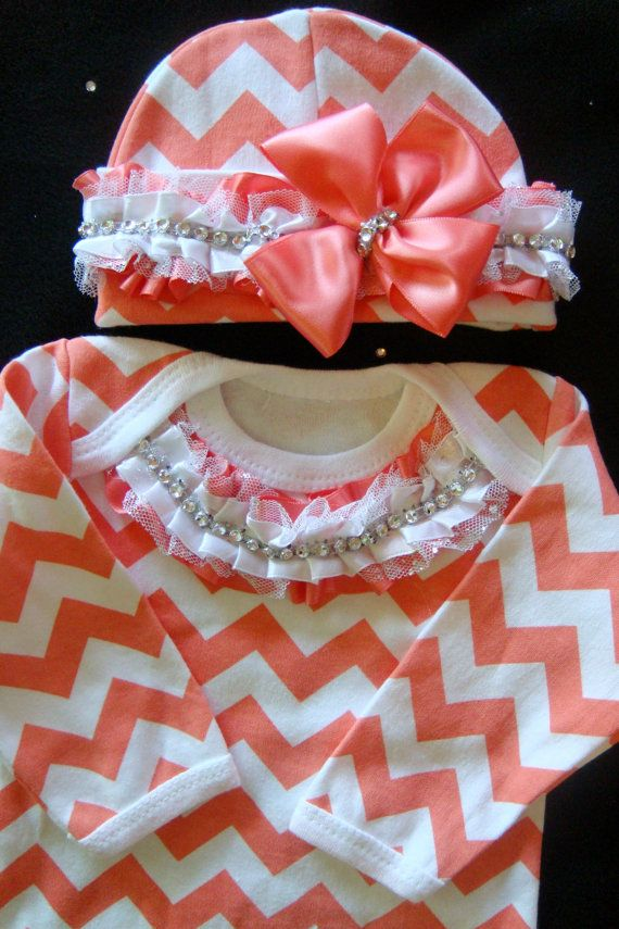 NEWBORN baby girl take home gown outfit by BeBeBlingBoutique, $39.00