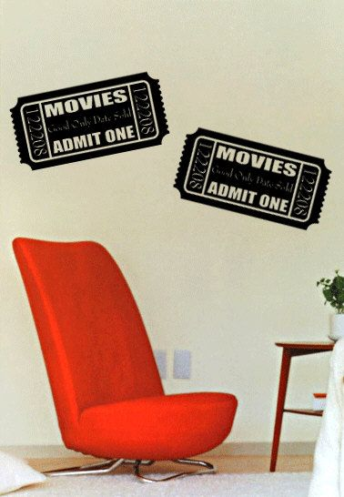 Best Movie Home Theater Film Cinema Wall Decals Images On - How do you install a wall decal suggestions