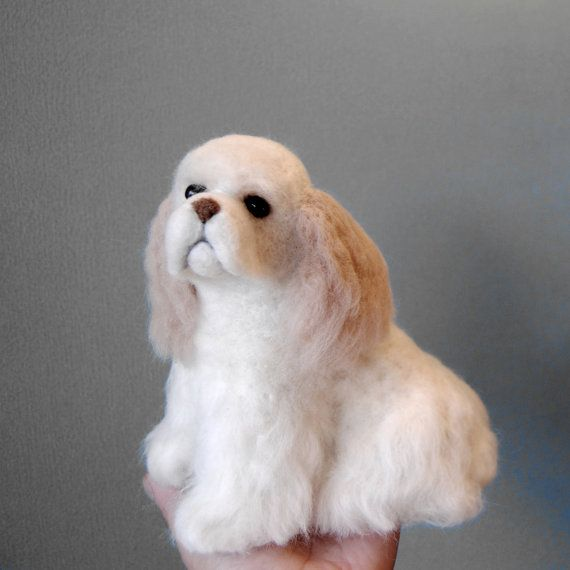 American Cocker Spaniel, Needle Felted Dog, Handmade Animal, American Cocker Spaniel, King Charles Spaniel or any other breed, made to order
