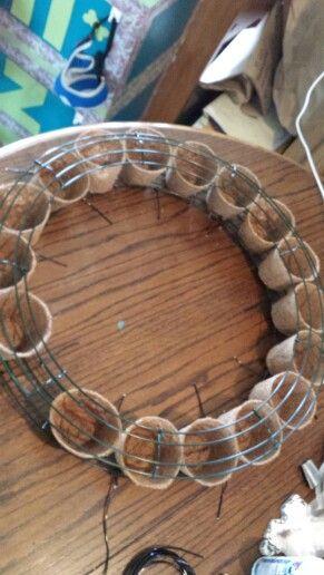DIY Living wreath Frame