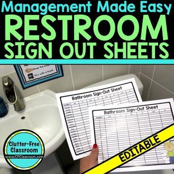 Best 25+ Bathroom sign out ideas on Pinterest Teacher, Classroom - sample equipment sign out sheet