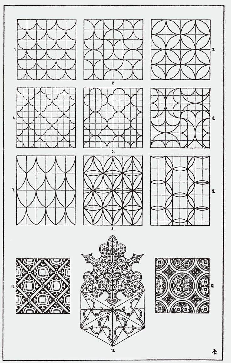 File:Orna006-Flachmustermotive.png Description. English: Surface example motifs. Date1898 or earlier. SourceFranz Sales Meyer (1898) A Handbook of Ornament, see Meyer's_Ornament