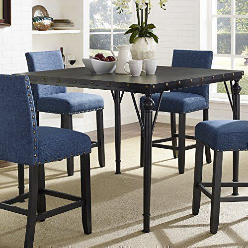 Roundhill Furniture PT163 Biony Dining Collection Counter Height Table Square Want Additional Info