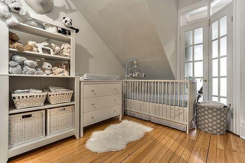 IKEA HENSVIK crib, IKEA HENSVIK cabinet with shelf unit, IKEA KOPPANG 3 drawer unit with baskets
